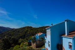 Juzcar smurf village. Royalty Free Stock Images