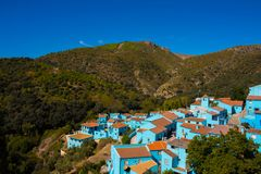 Juzcar smurf village. Royalty Free Stock Image