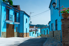 Juzcar Smurf wioska zdjęcie royalty free