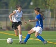 JV de las muchachas del fútbol Fotos de archivo libres de regalías
