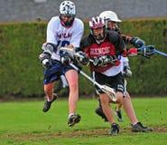 JV van de lacrosse actie Royalty-vrije Stock Foto