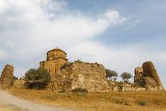 Jvari修道院,在姆茨赫塔, ea附近的一个英王乔治一世至三世时期正统修道院 库存照片