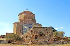 Jvari或Jvari修道院,乔治亚伟大的教会  库存照片