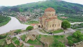 Jvari или монастырь Jvari грузинский правоверный монастырь акции видеоматериалы