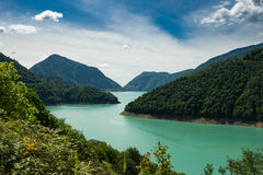 Jvari Enguri (Dzhvara Ingury) Reservoir Stock Photography
