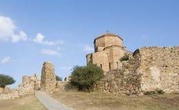 Jvari is a Georgian Orthodox monastery. Jvari is a Georgian Orthodox monastery of the 6th century near Mtskheta - most famous symbol of georgiam christianity Stock Photo