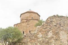 Jvari kloster, den georgiska ortodoxa kloster för sjätte århundrade Arkivfoto