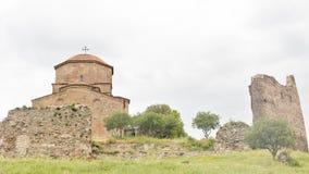 Jvari kloster, den georgiska ortodoxa kloster för sjätte århundrade Arkivbilder