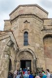Jvari kloster Georgia Eastern Europe Arkivfoton