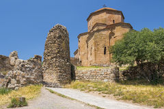 Jvari kloster, Mtskheta, Georgia Royaltyfria Foton