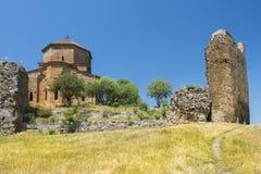 Jvari kloster, Mtskheta, Georgia Arkivbilder