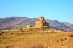 Jvari Monastery. The georgian orthodox monastery located near   Mtskheta, Georgia Stock Photography