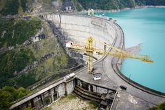 The Enguri hydroelectric power station royalty free stock images