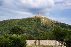 Jvari Temple in Georgia Stock Images
