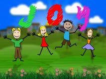 Jóvenes de Joy Means Toddlers Child And de los niños Imagen de archivo libre de regalías