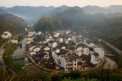 Jvjing村庄在Wuyuan 库存图片