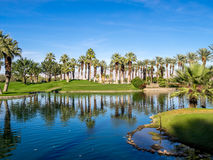 Jw马里奥特沙漠春天的高尔夫球场依靠&温泉 免版税库存图片