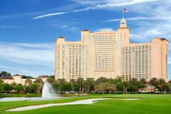 JW Marriott Orlando Grande Lakes hotel in Orlando, Florida. Orlando, Florida, USA - May 01, 2014: The JW Marriott Orlando hotel is part of the gorgeous Grande Royalty Free Stock Images