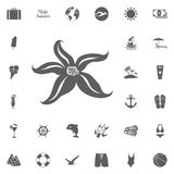 Jxhbcvl clk. Starfish icon. Hello summer icon. Beach icon set. travel icons set Stock Photography