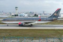 JY-AIG Królewskie Jordanowskie linie lotnicze, Aerobus A330-232 Zdjęcia Stock