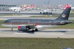 Jy-AYL Royal Jordanian-Luchtvaartlijnen, Luchtbus A320 - 200 stock afbeelding