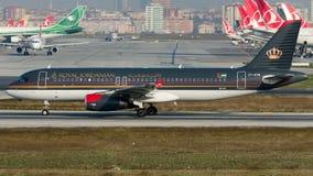 JY-AYW Royal Jordanian, аэробус A320-200 стоковое изображение rf