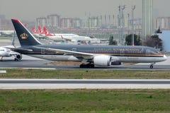 JY-BAA Royal Jordanian Airlines, Боинг 787-8 Dreamliner стоковые фотографии rf