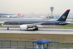 JY-BAA Royal Jordanian Airlines, Boeing 787-8 Dreamliner immagine stock