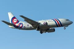 JY-JAY Jordan Aviation, Boeing 737-300 Fotos de Stock Royalty Free