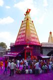 Jyotiba-Tempel, Wadi Ratnagiri, Kolhapur, Maharashtra Lizenzfreie Stockfotografie