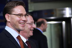 Jyrki Katainen. Cyprus, January, 2013. Prime Minister of Finland Jyrki Katainen at the special summit of the leaders of the right-centrist European People royalty free stock photos