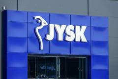Jysk, δανικά έπιπλα και εσωτερικός λιανικός στοκ εικόνες