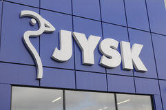 JYSK DANISH TRADE MARK Stock Image