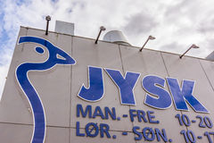 Jysk logo on the front of the store in Copenhagen Stock Images