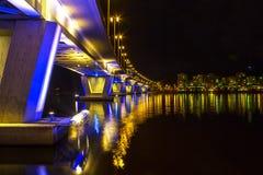 Jyväskylä Night bridge. Stock Image