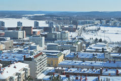 Top-view of  Jyvaskyla, Finland. Jyvaskyla, Finland. City view from the top of the Harju hill Royalty Free Stock Photo