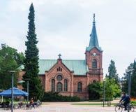 Jyvaskyla stadskyrka, Finland royaltyfri bild