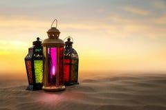 Języka arabskiego Ramadan lampion Zdjęcie Royalty Free