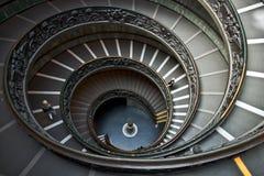 Kółkowy schody przy Watykańskim muzeum w watykanie, Włochy fotografia royalty free
