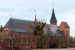 Königsberg domkyrka, ön av Immanuel Kant royaltyfria bilder