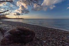 Küstenlinie des Eriesees Ohio stockfotos