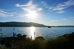 KÃ ¼ snacht in het Meer van Konstanz royalty-vrije stock foto's