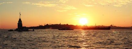 Kız kulesi-Maiden`s Tower İstanbul royalty free stock photography