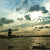 Kız Kulesi Royaltyfri Foto