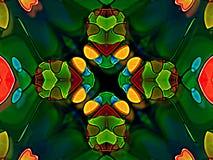 Käfer auf einem Teich, grafische Illustration Lizenzfreie Stockfotos