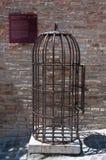 Käfig der Folterung benutzt in den Mittelalter Lizenzfreie Stockfotografie