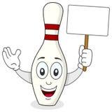 Kägla eller bowlaPin Cartoon Character Royaltyfri Bild