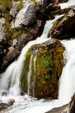 Källa av den Soca floden Arkivfoto