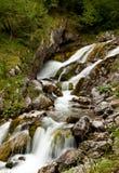 Källa av den Soca floden Arkivbild