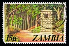 Källa av Zambeziet River, självständighetmonument, definitivt s Royaltyfri Foto